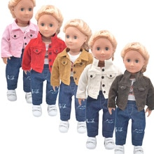 Dolls clothes Fashion jackets, jeans, T-shirts for 43-45cm Toys new born doll and American doll acce