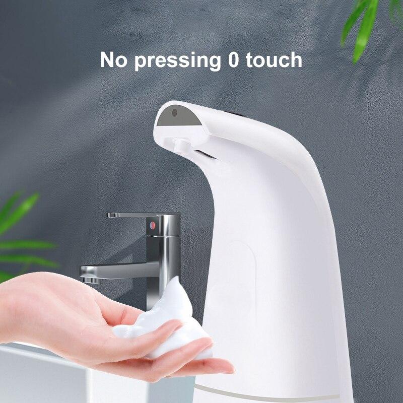وعاء توزيع الصابون الأوتوماتيكي التعريفي رغوة اليد غسالة ذكي غسل اليد السائل المنزلية الحمام الصابون موزع