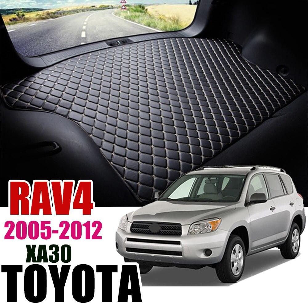 De cuero estera de maletero de coche para Toyota RAV4 2005-2012 maletero bota Mat XA30 carga bandeja antideslizante trasera cubierta almohadilla
