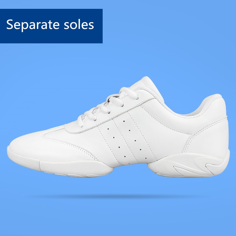 New arrival adult dance sneakers women's white Jazz/square dance shoes competitive aerobics shoes fi