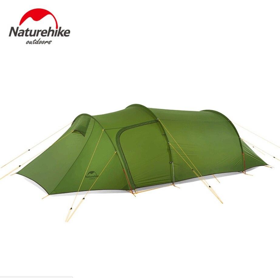 Naturehike-خيمة مزدوجة مع نفق Opalus خفيف للغاية ، تخييم خارجي ، تنزه ، 2/3/4 أشخاص ، جديد