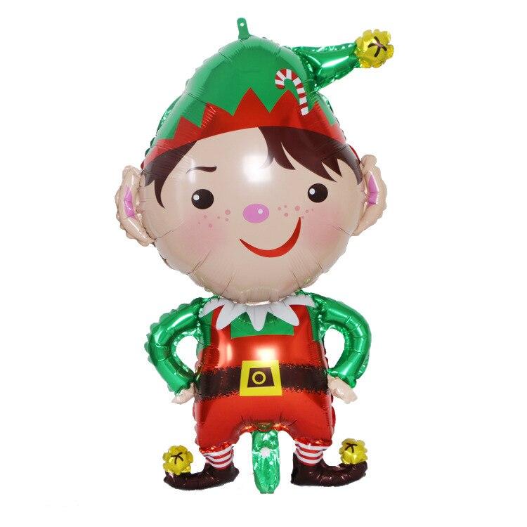 Рождественские воздушные шары, Рождественский газовый наряд в форме зеленого эльфа, праздничные украшения, воздушные шары из алюминиевой ф...