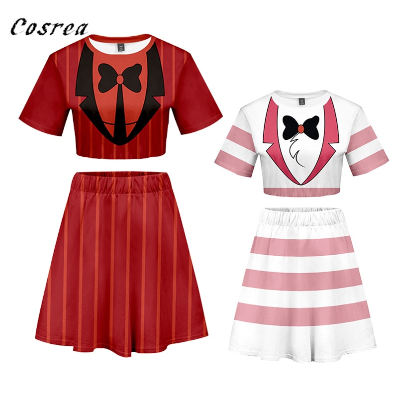 Camiseta feminina cosplay de animê, camiseta vestido de hotel para meninas e mulheres, uniforme de cosplay de bebê
