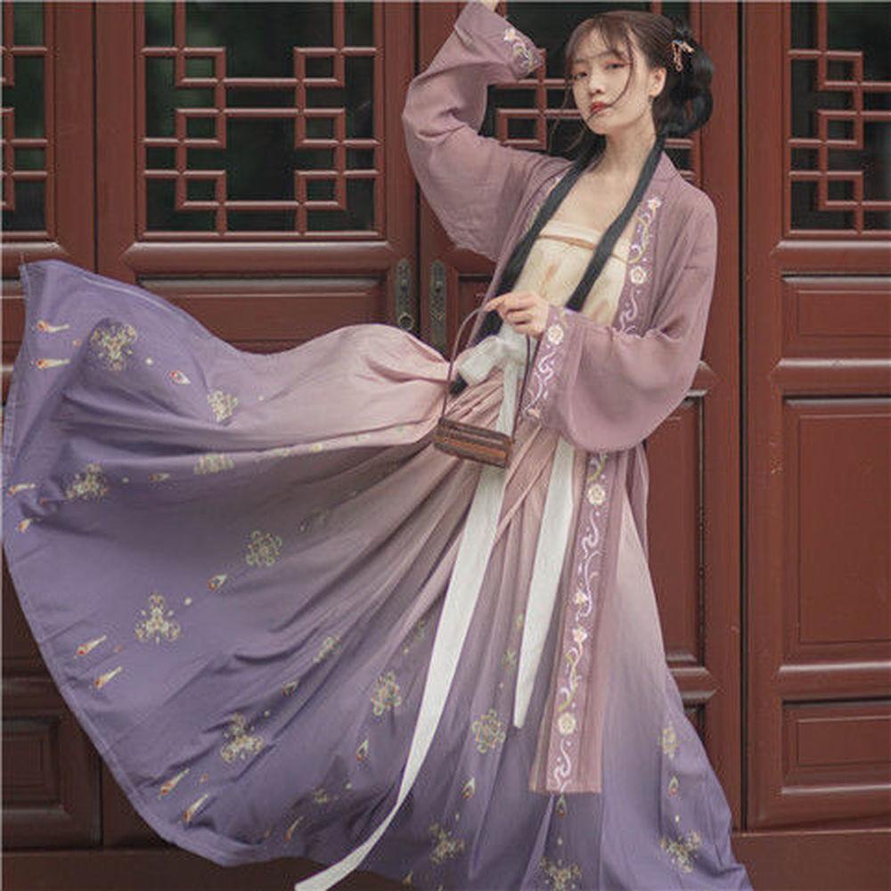 Ancient Hanfu Dress Folk Dance Costume Women Han Dynasty Princess Fairy Hanfu Dress Oriental Style Dance Clothing Girl Cosplay фото
