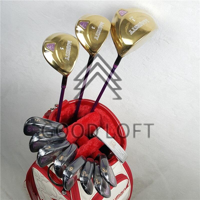 Maruman Majesty Prestigio 9 mujeres golf club set drive + fairway madera + hierros + putter grafito eje envío gratis sin bolsa