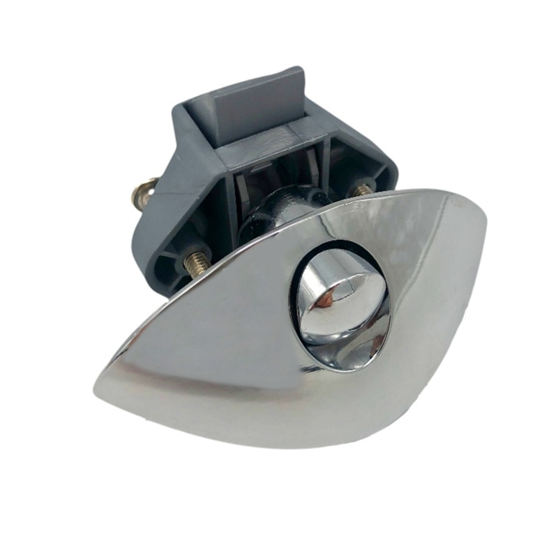 Diameter 20mm Camper Car Half-moon Push Lock RV Caravan Drawer Latch Button