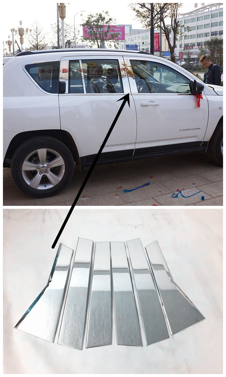 Para Honda CRV CR-V accesorios 2012 2013 2014 2015 Ventana de acero inoxidable embellecedores de pilares centrales