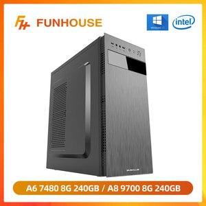 Настольный компьютер Funhouse, AMD APU A6 7480/A8 9600 8 ГБ ОЗУ 240 ГБ SSD, сборка, хост, полный комплект, высококачественный E-sports, игровой ПК «сделай сам»