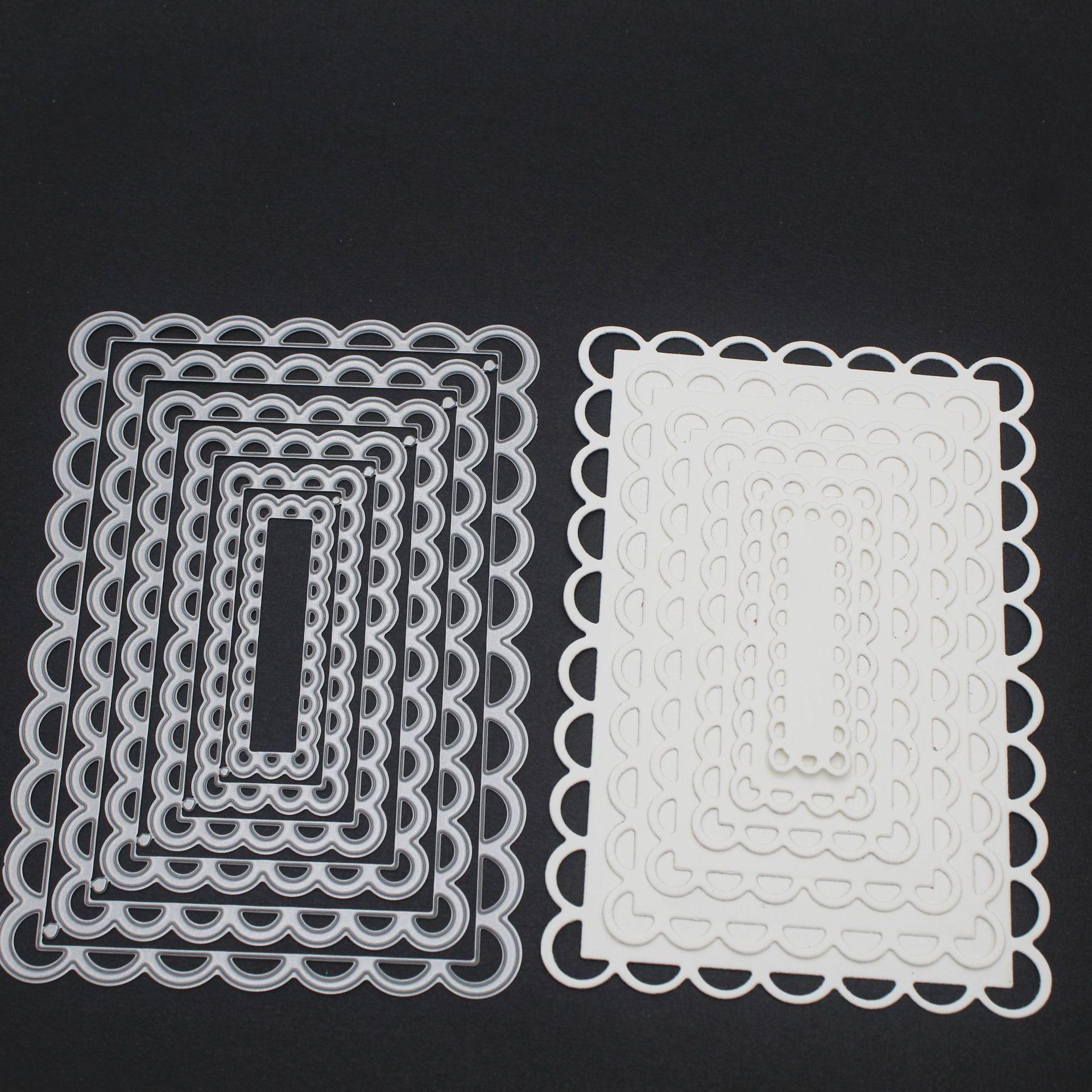 Flower Creative Background / Envelope Lace Invitation Cutting Stencils for DIY frame cutting craft dies 140*98