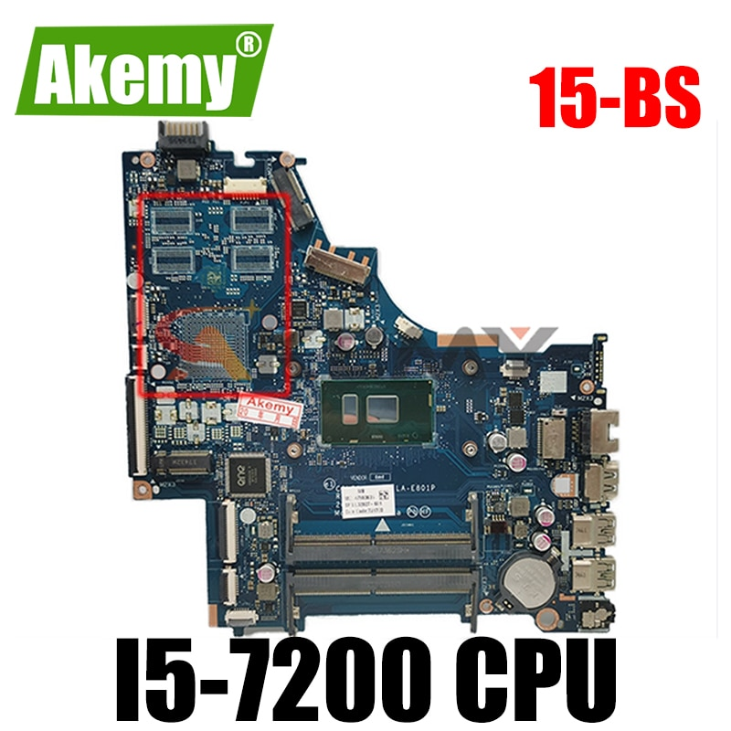 CSL50/CSL52 LA-E801P 924751-001 ل HP 15-BS اللوحة المحمول مع I5-7200 CPU 924751-501 924751-601 100% اختبار موافق