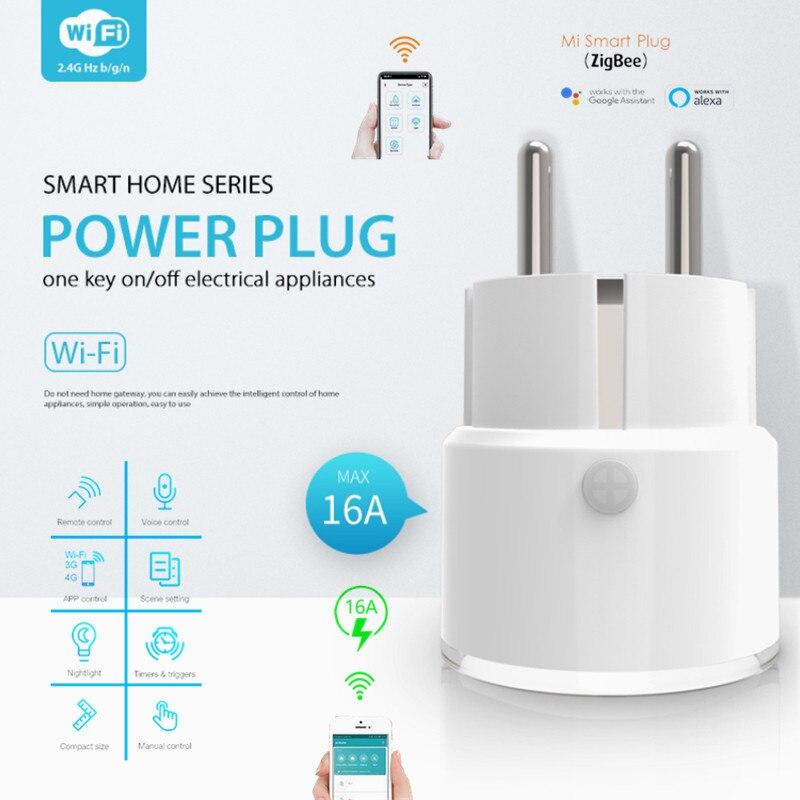 NEO Tuya WiFi الذكية FR التوصيل المقبس مفتاح واحد تشغيل/إيقاف الأجهزة التحكم عن بعد توقيت مجموعة تأخير المهام فيشة خارجية مقبس الطاقة