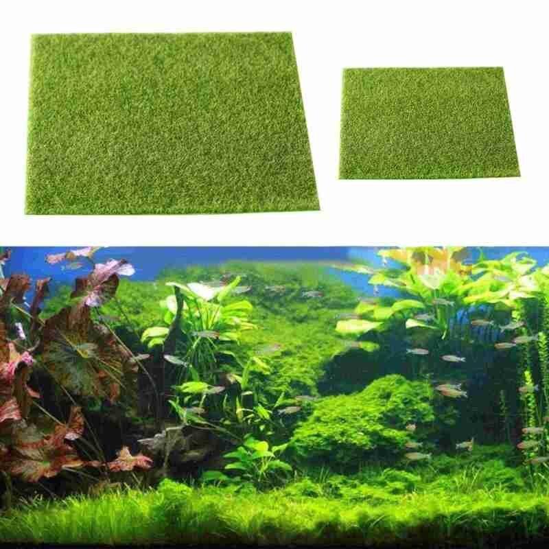 Artificial gramado jardim musgo real micro paisagem grama artificial paisagem acessórios decoração do aquário