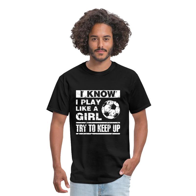 Дизайнерская футболка с изображением викингов «Я знаю, что играю, как девочка, стараюсь идти в ногу», футболка с изображением викингов для м...