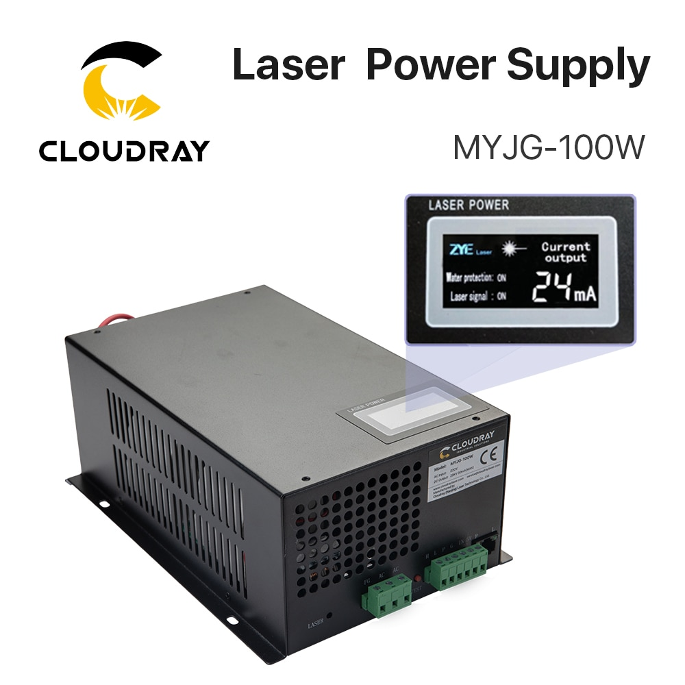 Cloudray 80-100W CO2 الليزر امدادات الطاقة ل CO2 الليزر قطع النقش آلة MYJG-100W الفئة