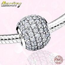 Plata de Ley 925 pulsera de abalorios para manualidades de Zirconia cúbica pulsera de plata encantos 925 Original Perlas para joyería haciendo