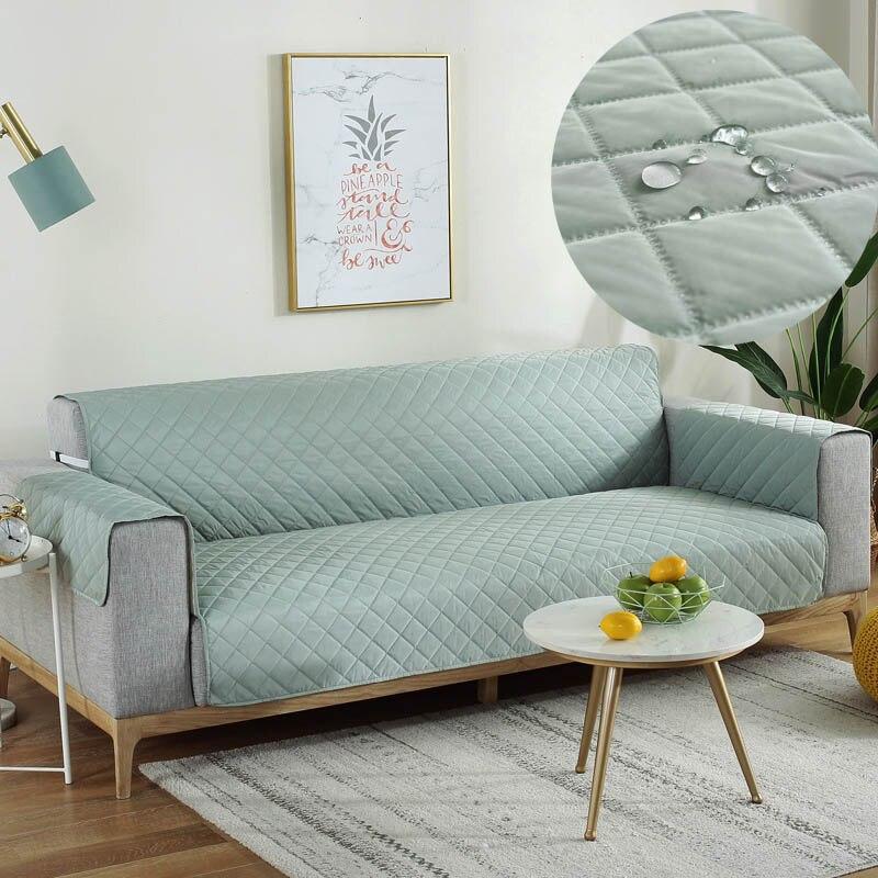 غطاء أريكة مقاوم للماء مبطن مكافحة زلة كرسي غطاء أريكة لغرفة المعيشة كرسي بذراعين أغطية 1/2/3 مقاعد انخفاض الشحن