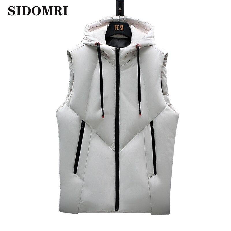 Men's waistcoat autumn winter down cotton new fashion trend vest loose handsome thickened warm jacket