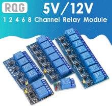 5v 12v 1 2 4 6 8 modulo di relè della manica con accoppiatore ottico Relè di Uscita 1 2 4 6 8 way modulo relè per arduino In magazzino