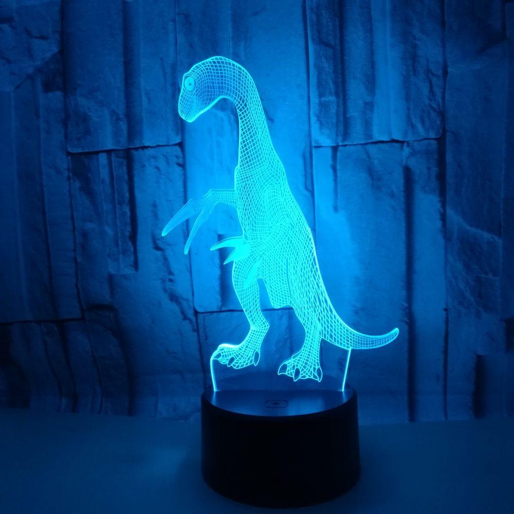 3D светодиодный ночной Светильник лампы динозавра 16 видов цветов дистанционного Управление настольные лампы на день рождения Рождественск...