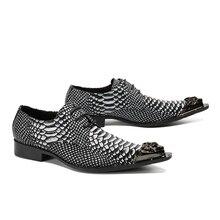 Italian Style Luxury Crocodile Shoes Calzado Hombre Fashion Lace Up Men Casual Dress Shoes Claquette Steel Toe Shoes Big Size 13