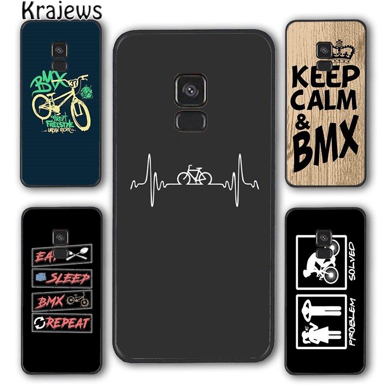 Krajews Love BMX Bike Sports cool Phone Case Cover For Samsung Galaxy S5 S6 S7 edge S8 S9 S10 E lite