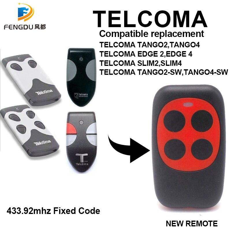 10 قطعة تيلكوما تانجو 2 سليم/تيلكوما تانجو 4 سليم/تيلكوما TANGO4 نسخة عالية الجودة 433.92 ميجا هرتز التحكم عن بعد لباب المرآب