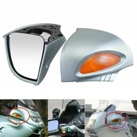 motorcycle rear view mirror lights turn signal lamp side mount with signal lens for bmw r1100rt r1150rt r850rt