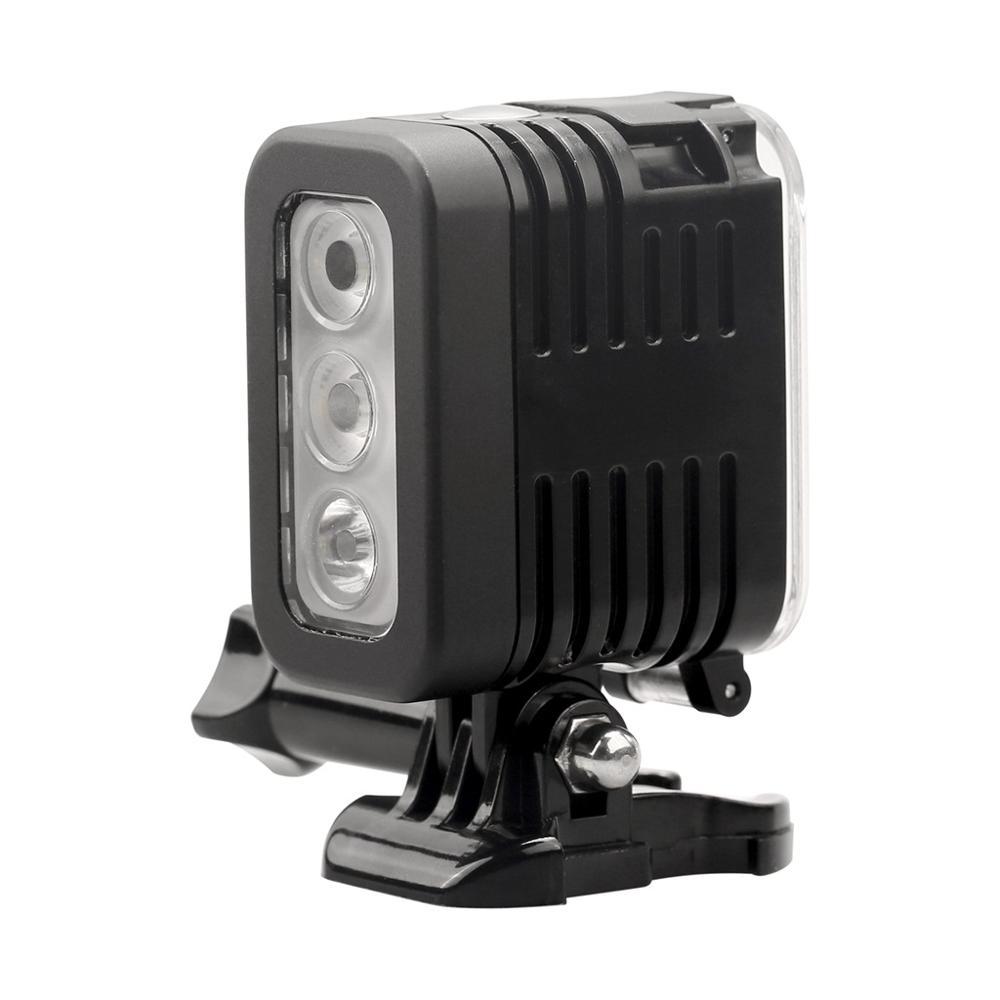 تحت الماء مصباح الغوص إضاءة مقاومة للماء + بطارية ل GoPro بطل 5 6 7 8 9 جلسة 5 شاومي يي 4K لايت Mijia Sjcam SJ6/8/9 H9