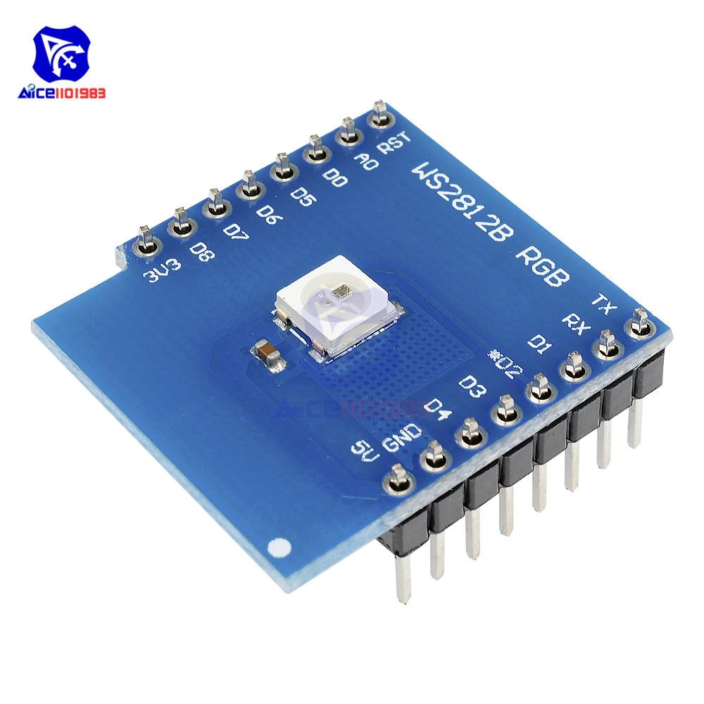 Diymore WeMos D1 Mini WS2812B, módulo LED RGB, escudo para Arduino