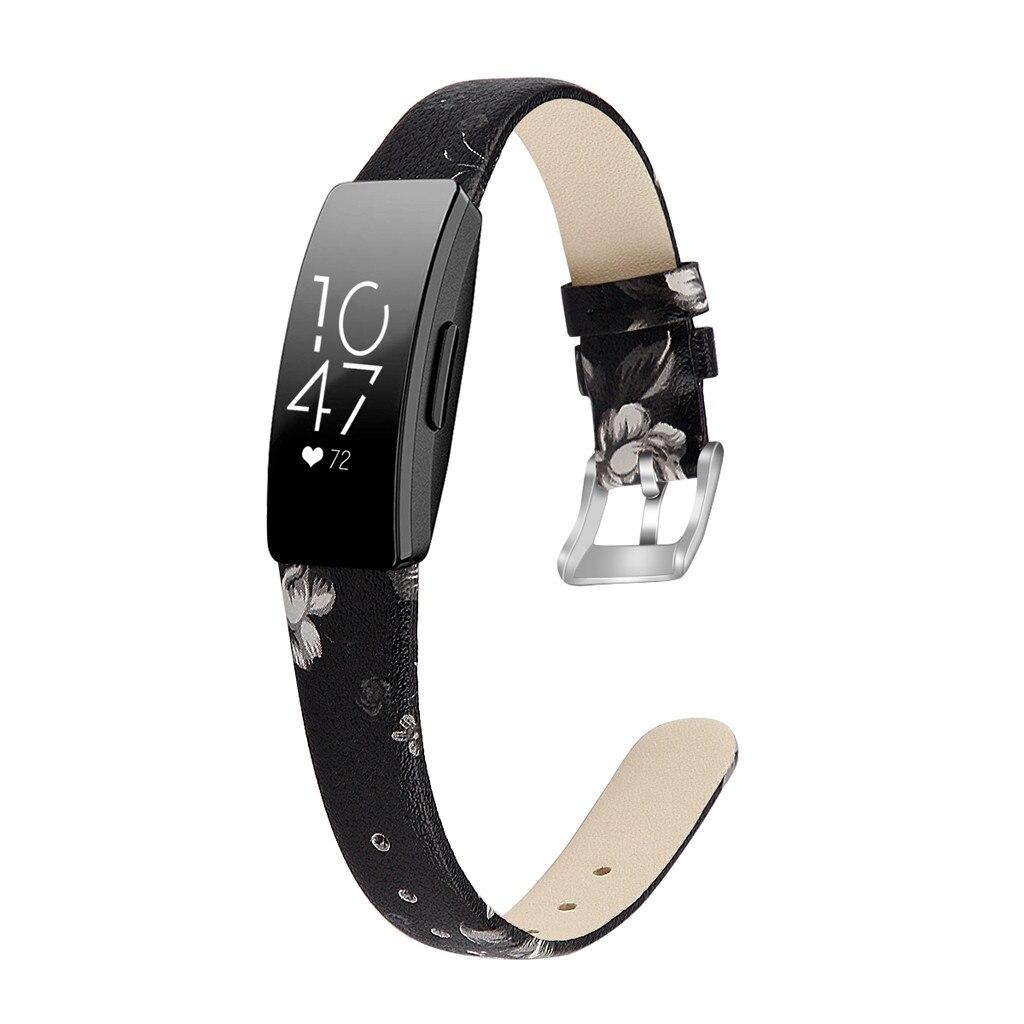 Correa de reloj de pulsera de cuero de repuesto para Fitbit Inspire/Inspire HR accesorios de moda de liberación rápida SmartWatch
