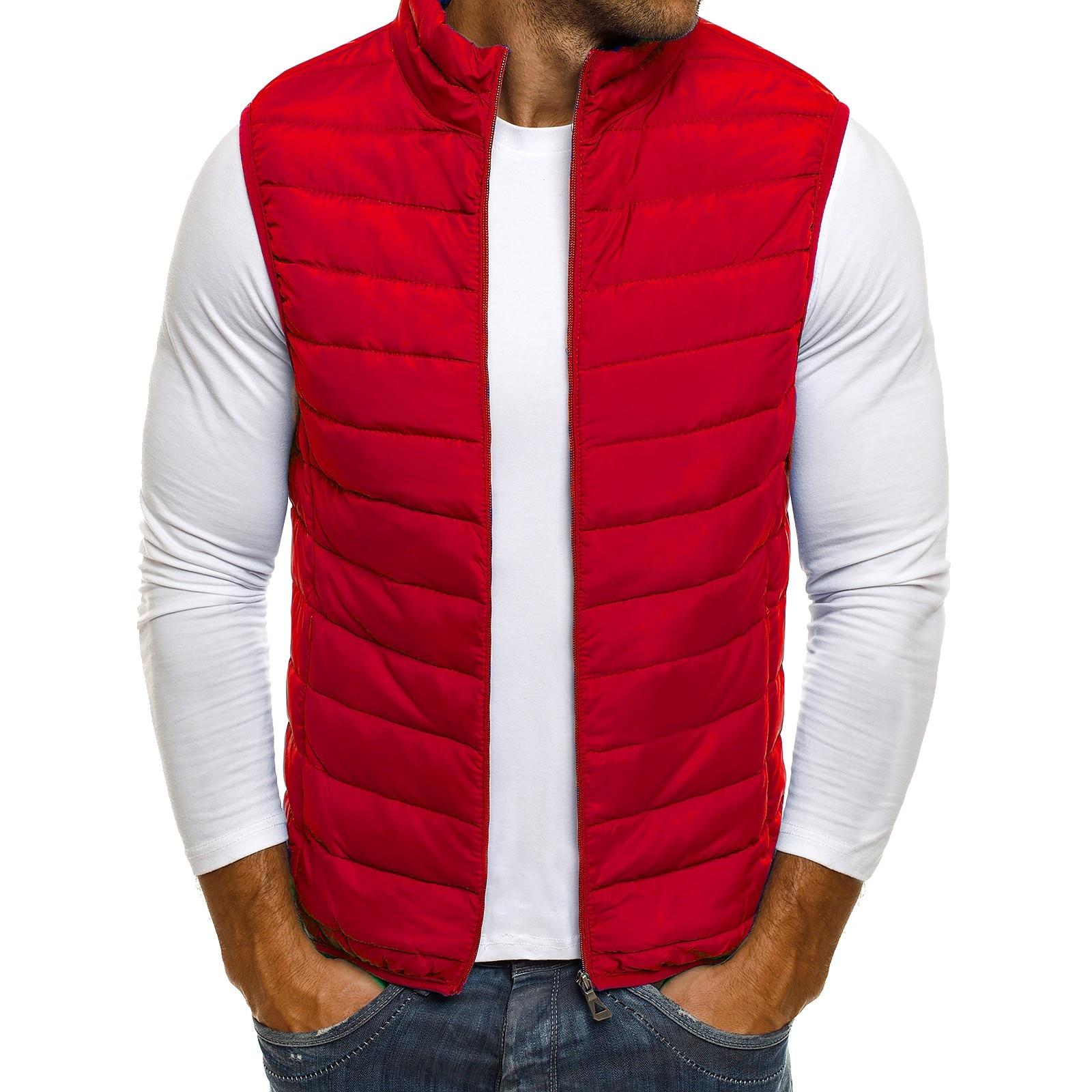 ZOGAA Casual Vest Men Autumn Winter Jackets Thick Vests Man Sleeveless Coats Male Warm Cotton-Padded Waistcoat men gilet veste