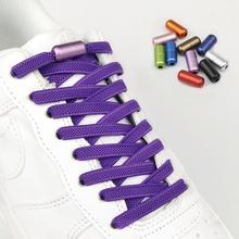 1 coppia di Colore opaco Blocco Scarpe Lacci Lacci Delle Scarpe Nuovo Appartamento Elastico Per I Bambini e Adulti Rapido Pigro Lacci 15 di Colore shoestrings