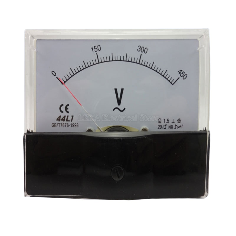 1 шт. 44L1 переменный ток 5 в 10 в 20 в 30 в 50 в 100 в 250 в 300 в 500 в 600 в пластиковый корпус аналоговая панель измеритель вольтметр
