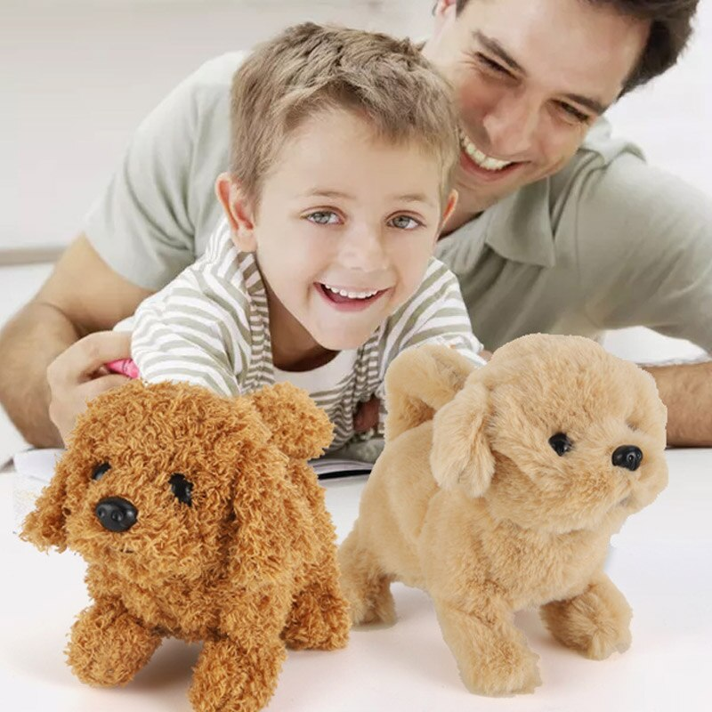 AliExpress - 18CM Interactive Plush Puppy Electronic Toys Cute Robot Dog Funny Plush Toys For Children Birthday Christmas Birthday Gift