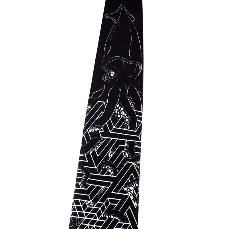 Free shipping New male men's necktie Original Design fun creative black sepia print tie women retro casual trend personality