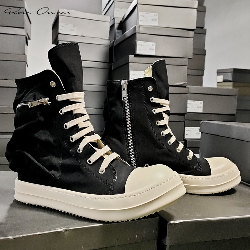 High Street Brand RO 21ss Dark Owens High Top Canvas Shoes Male Sneakers Men Shoes Mens Casual Shoes