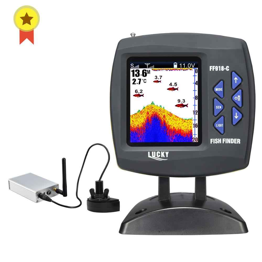 Lucky FF918 Wireless Remote Control Boat Fish Finder 300m/980ft wireless operating range echo sounder