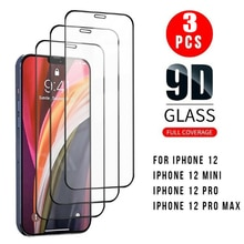 9D Premium Tempered Glass Screen Protectors for iPhone 12 Mini 12Pro Max Full Coverage Front Glass P