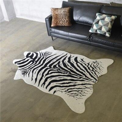 Zebra tapete nórdico americano personalidade preto e branco sala de estar quarto sofá mesa café decorativo