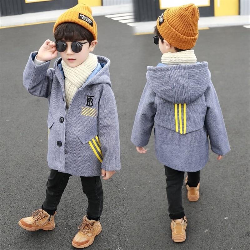 Boys' woolen coat 2020 Korean style baby Autumn and Winter Children's thickened handsome woolen coat infant children shirt enlarge