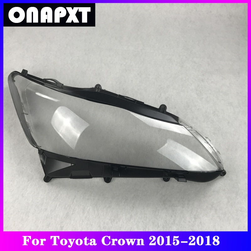 Front Headlight Cover Replacement For Toyota Crown Car Plexiglass Head Light Lampshade Lamp Shell Transparent Lens 2015-2018