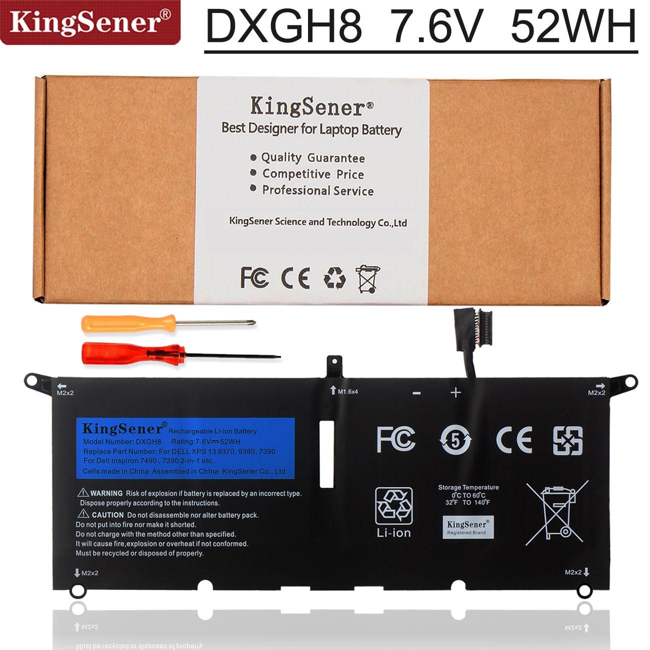 Kingsener DXGH8 Laptop Battery For Dell XPS 13 9380 9370 7390 For Dell Inspiron 7390 2-in-1 7490 G8V