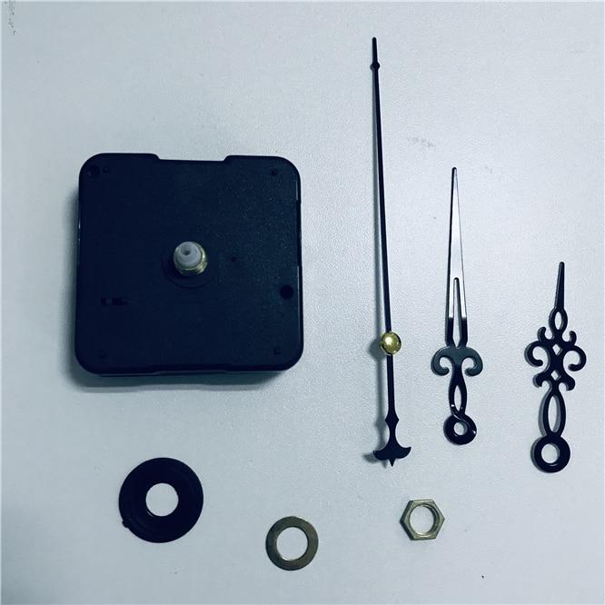 Juego de 10 piezas por lote, mecanismo de movimiento silencioso de alta calidad para reloj de cuarzo, husillo corto de 11mm para reparación de manos de Metal, Kit DIY