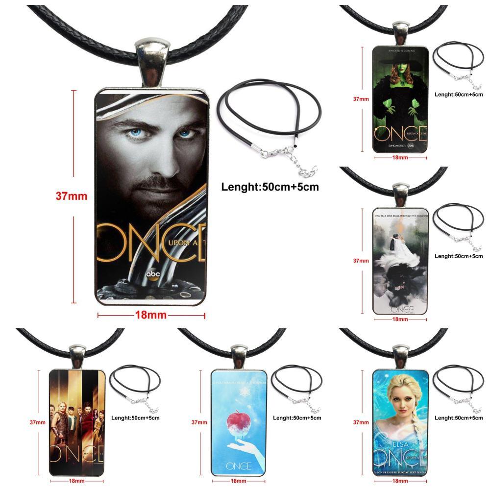 Para Mujer moda collar hecho A mano rectángulo forma gargantilla collar joyería Multi diseños Érase una vez Póster