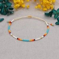 2021 ethnic armband jewellery miyuki beads hand woven rainbow small beaded couple bracelets bangles for women jewelry wholesale