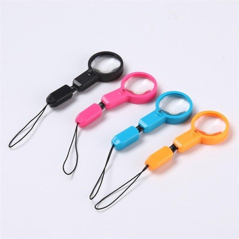 Mini lupa de plástico zíper puxar cabo substituição zíper tabs puxar cinta fix zip extrator para vestuário mochila saco acessórios