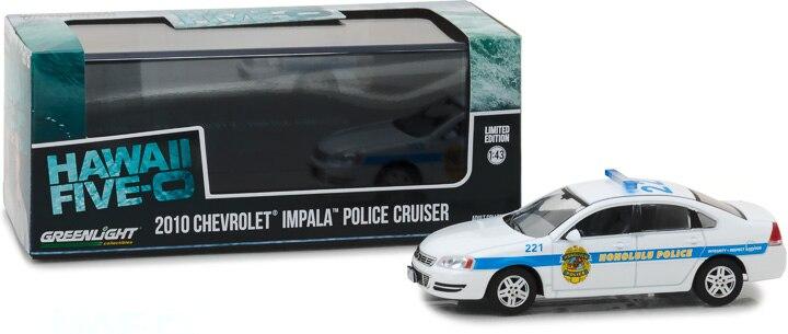 GreenLight 143 2010, Chevrolet Impala, modelo de coche de aleación de ultravioleta, juguetes de Metal para niños pequeños, diecast, regalo
