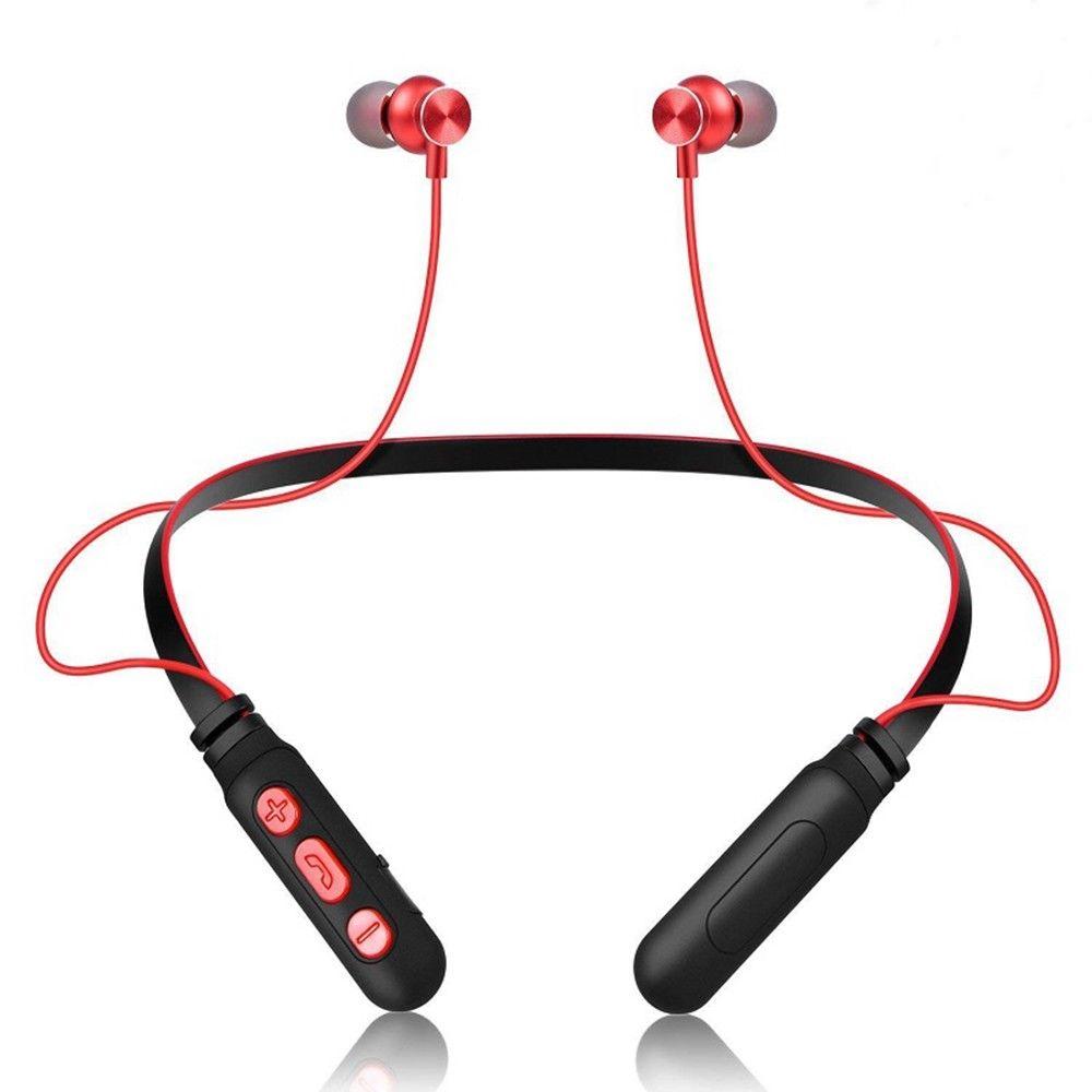 Para Xiaomi M8 auriculares inalámbricos Bluetooth auriculares estéreo deportivo manos libres Bluetooth auriculares con micrófono cuello colgante