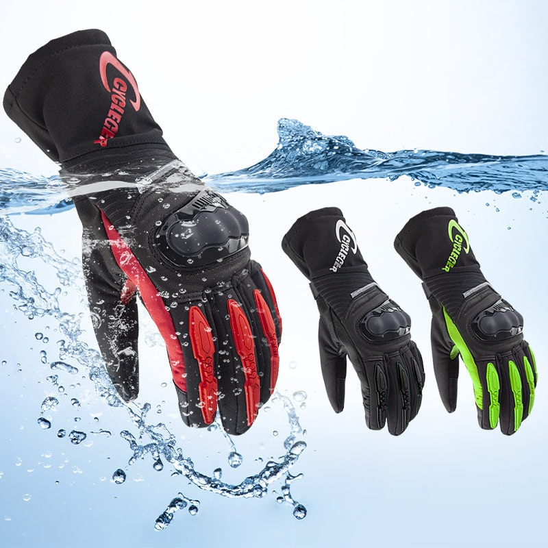 Waterproof  Motorcycle Gloves Winter Motocross Racing Gloves Thermal Moto Guantes Cycling Riding Touch Screen Gloves Moto CG676