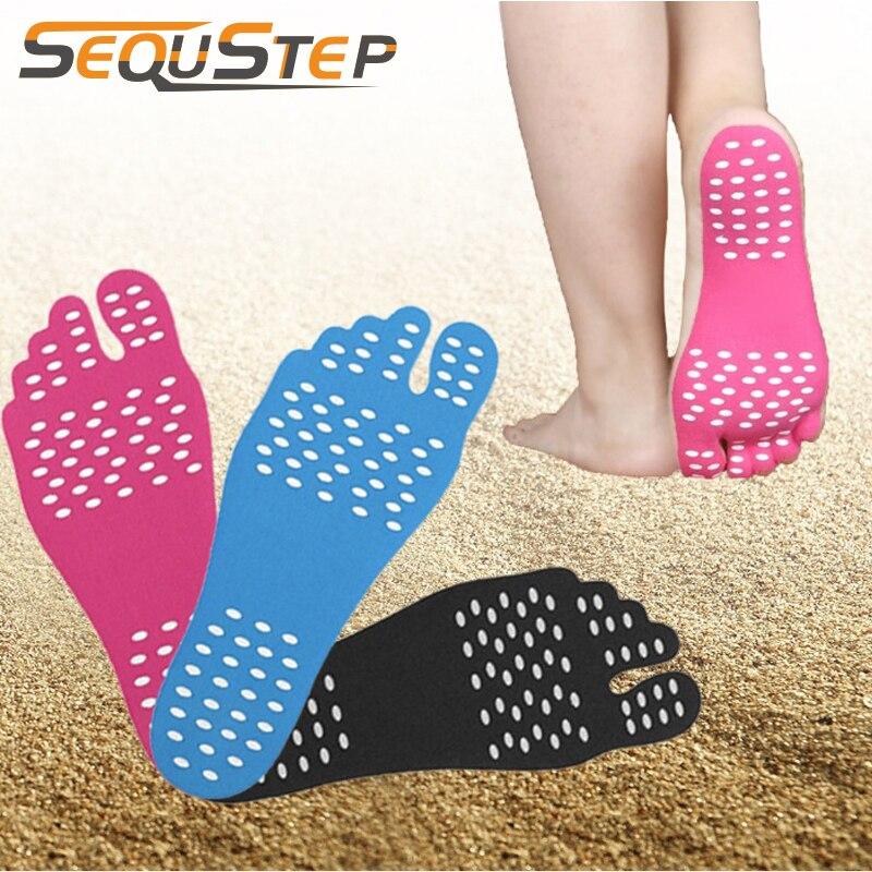 3 пары Nanogel стельки для ухода за ногами Нескользящая наклейка для пляжа, босиком, ходьбы, спорта